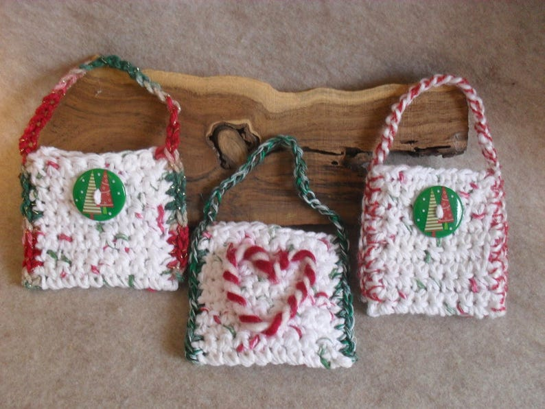 Christmas holiday hanging Gift Card or Treat Holders  3 for image 0