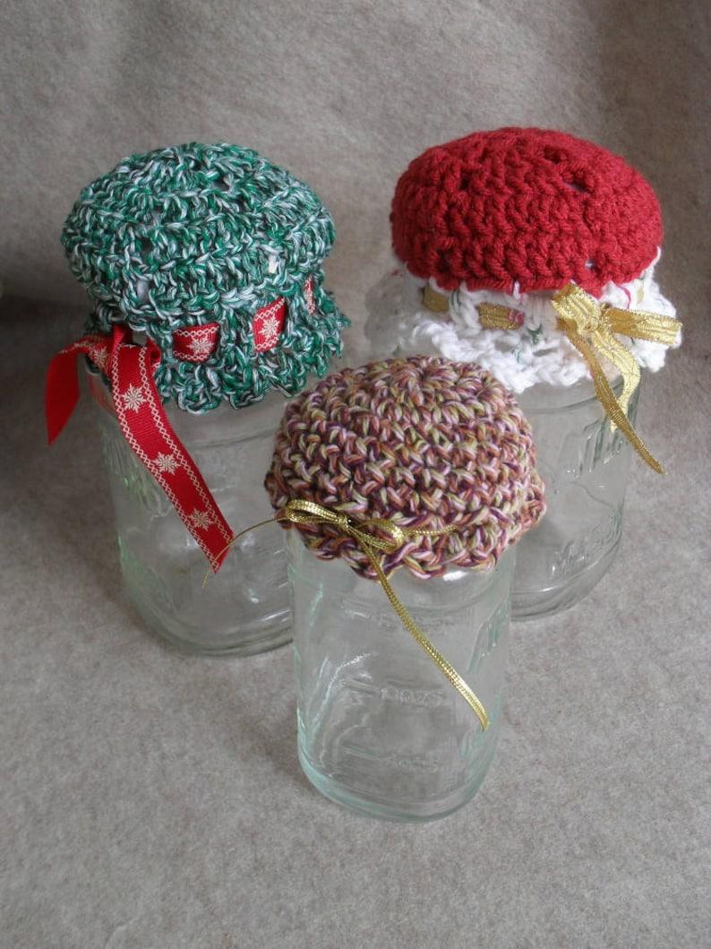 Christmas Holiday Mason Jar Cover Decorative Gift Jar Topper image 0