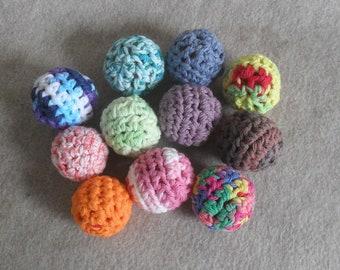 Crochet Play Balls: Kids Cats Juggling anti-stress from recycled mesh (choose 2)