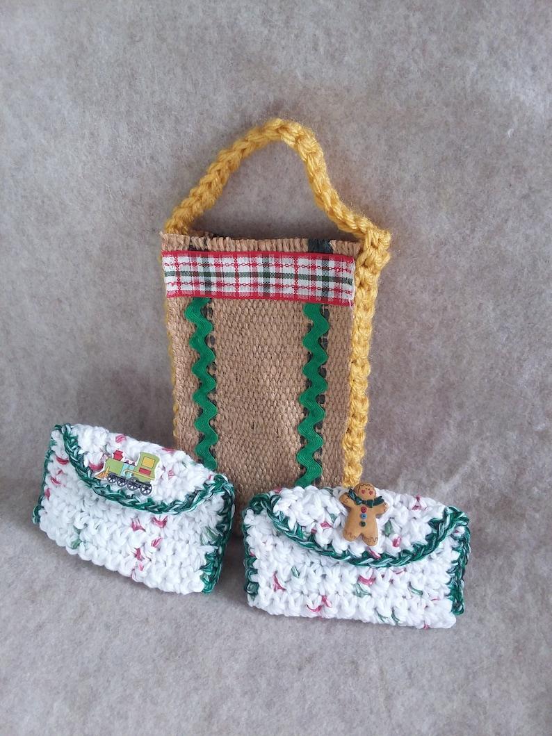 Small Christmas Gift bag Card Holders choose 1 image 0