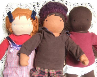 PDF Waldorf Doll Pattern and Tutorial for 35cm, 14 inch doll