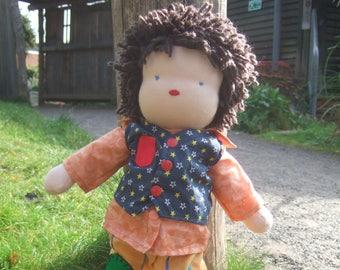 PDF Waldorf Doll and Hair Tutorial for 35cm, 14 inch doll