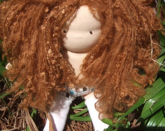 PDF Hair Crochet Tutorial Fully Styleable Dolls Hair with photo and video instructions