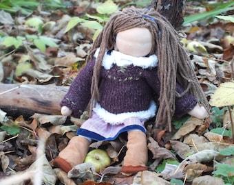 Cloth doll: Girl Waldorf doll 38cm - 15 inch, Poupee, muneca, bambola