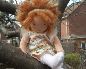 Custom made, one of a kind, Waldorf doll 42cm / 16.5in Poupee, Muneca, Bambola