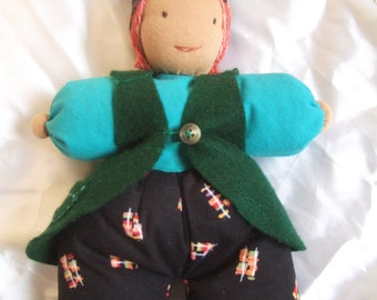 Pip, a Soft Pillow Gnome Doll
