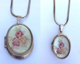 Vintage Floral Locket Necklace