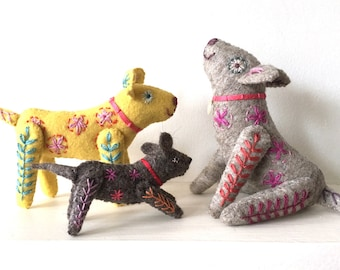 DOG FAMILY Felt toys to make downloadable PDF