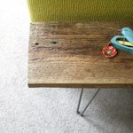 CUSTOM RESERVE for David - a pair of reclaimed wood benches with hairpin legs - reclaimed elemental modern industrial, midcentury modern