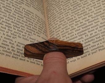 Book holder - Zebrano wood