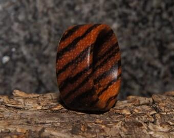 Size 7 - Zebra Wood Ring