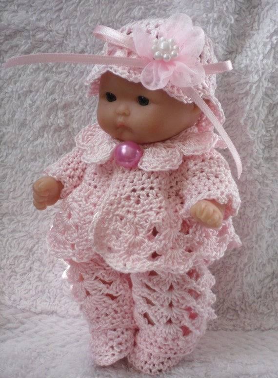 Crochet pattern for Berenguer 5 inch baby doll jacket  e1ace5dec77