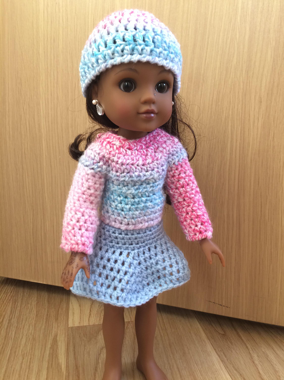 Pdf Crochet Pattern For 14inch Doll Wellie Wisher Doll Etsy