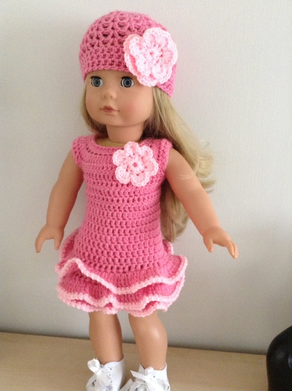 Pdf Crochet Pattern For 18 Inch Doll American Girl Doll Or Gotz Doll