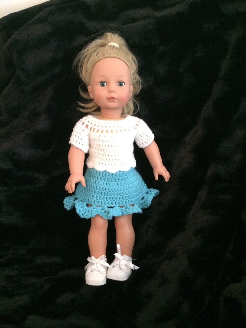 Pdf Crochet Pattern For 18 Inch Doll American Girl Doll Or Etsy