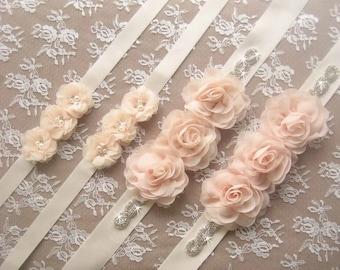 3cc407d070 Rhinestone and Flower Sash Bridal Sash Bridal Belt Ivory