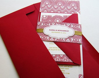 Mehndi Party Invites : Indian wedding invitation. henna mehndi party