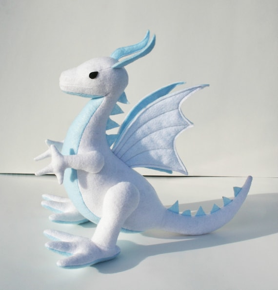 Sky Cloud Dragon Fantasy Plush Eco Friendly Stuffed Animal Toy White Blue Dragon Boys Gift Stuffies Plush Dragon