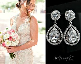 Wedding Earrings For Brides Etsy