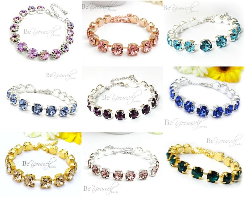 Swarovski Crystal Bracelet Bridal Bracelet Wedding Bracelet image 0