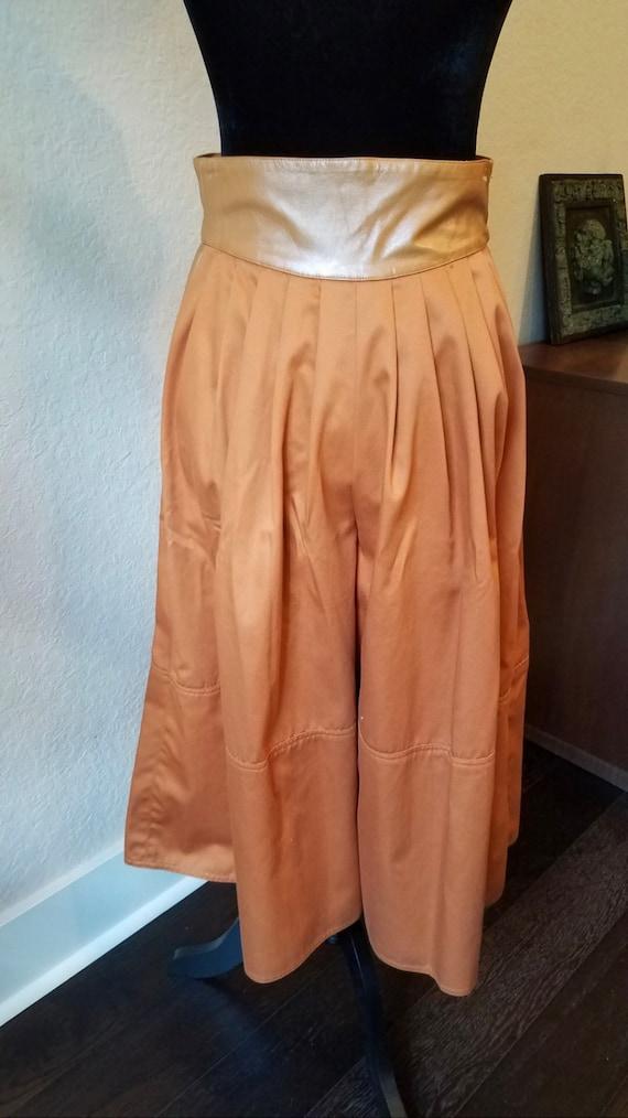 Vintage Orange Culottes,1970s