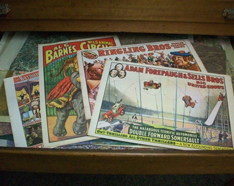 Set of Vintage Circus Posters