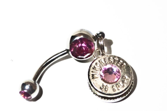 Bullet Belly Button Ring Baby Blue Glitz Your Hitch