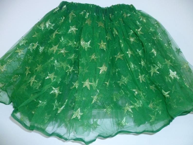 Green with gold stars tutu
