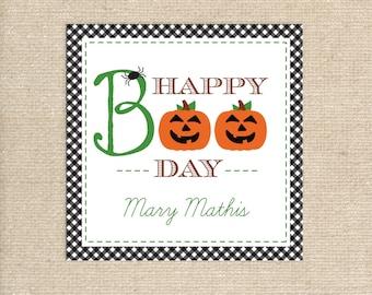 25 Printed Boo Halloween Tags