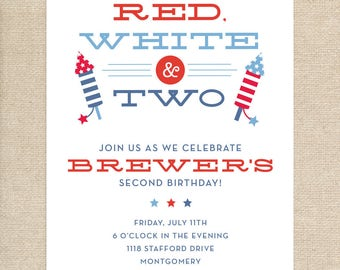 Printed Patriotic Birthday Invitations
