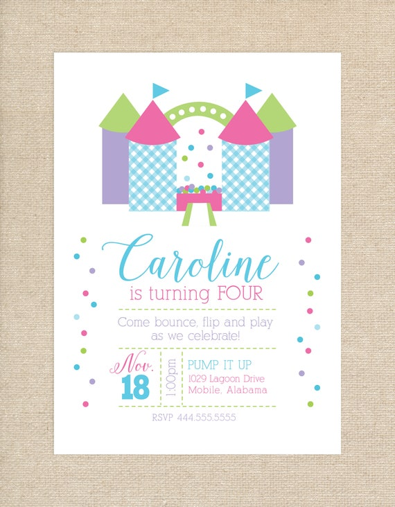 Printed Bounce House Invitations