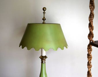 Vintage 1960s Olive Green Norman Perry Lamp - Mid-Century, Hollywood Regency, Modern
