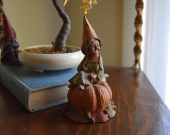Vintage Tom Clark Gnome Figurine 'Pumpkin' - Woodland, Gnomes, Elves, Faeries, Forest Friends