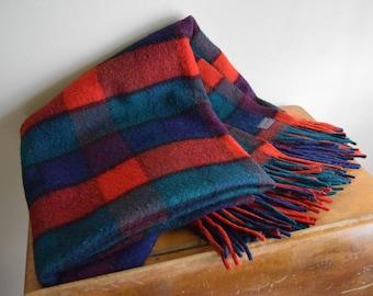 Vintage Plaid Pendleton Wool Throw Blanket - Rustic, Farmhouse, Outdoors
