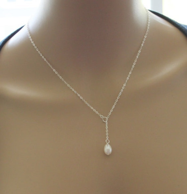 e9845c87b6723 Set of 8 Real pearl necklace, bridesmaids necklace, pearl pendant necklace,  Silver, Rose gold Infinity necklaces, bridesmaids jewelry gift