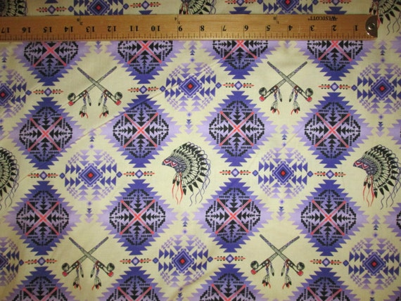More Native Southwest American African cotton quilt fabric *Choose design size