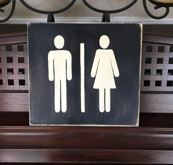Universal Man And Woman Symbol Ladies Gentlemen Unisex Etsy