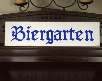 BIERGARTEN Beer Garden Sign Plaque German Deutschlandb Oktoberfest  Octoberfest Party Decor Bavarian Rustic Oompa Band HP