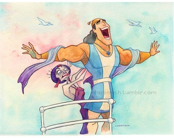 My Kronk Will Go On- 11x14 inch print
