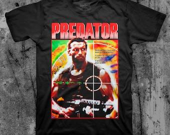 Predator Alien Tshirt Film Movie Classic Retro 80s 90s Chinese Japanese Action