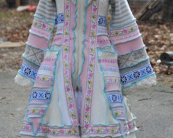 Custom Upcycled Recycled Wool Sweater Coat