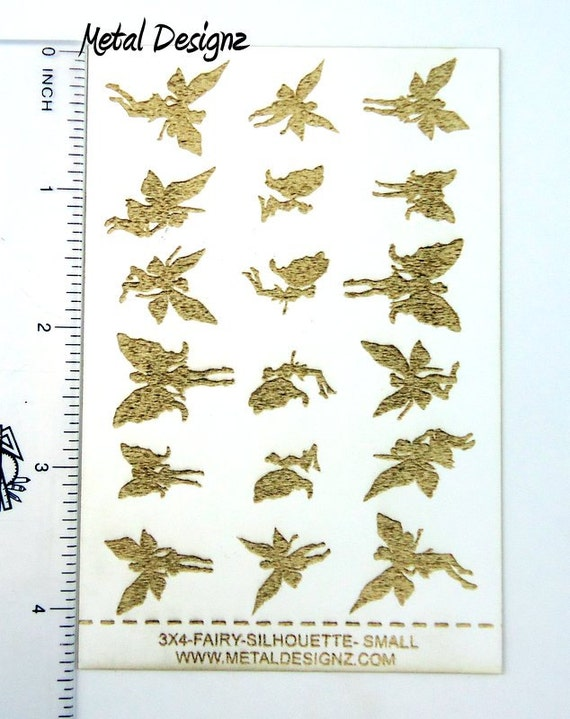 Laser Cut Texture Paper Fairy Silhouettes Rolling Mill Pattern