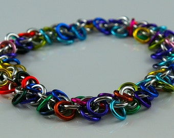 Shaggy Loops Chainmail Bracelet Kit - Makes 10 inches of Chain