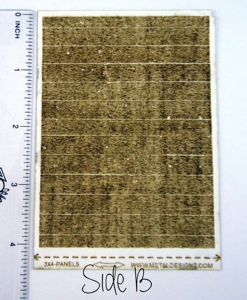 Laser Cut Texture Paper Wooden Fence Boards Rolling Mill Pattern