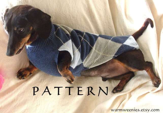 Sewing Pattern For Dachshund Sweater Snood Etsy
