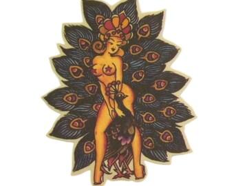 Sailor Jerry Peacock Tattoo
