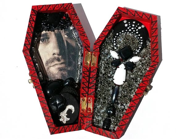 Kurt Cobain Coffin Shrine Altar Box - One of a Kind Mixed Media Art