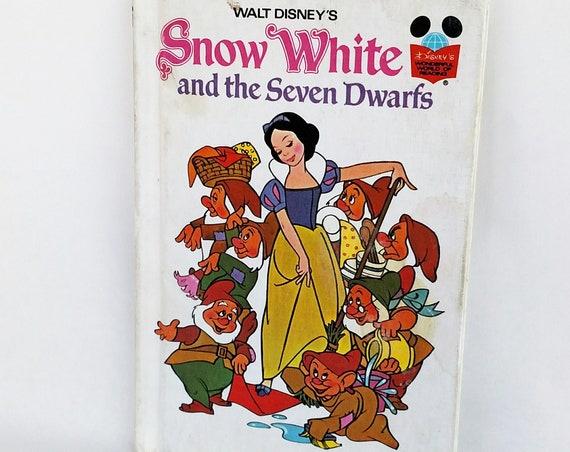 Vintage 1973 Walt Disney's Snow White and The Seven Dwarfs Illustrated Children's Book
