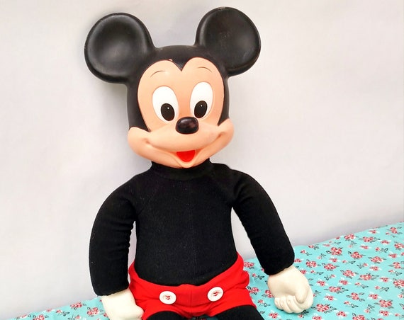 Vintage 1970's Marching Mickey Mouse Plush Doll