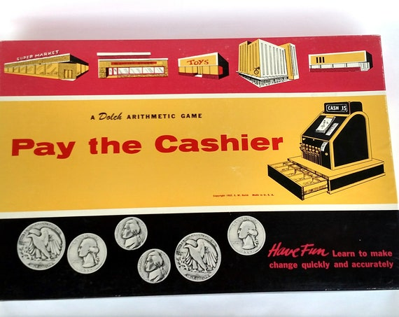Vintage 1960's Pay The Cashier Board Game